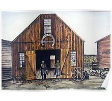 OAR AND BURKE BLACKSMITHING AND WAGONWORKS Poster