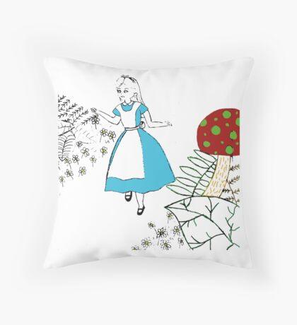 Alice in Wonderland - Daisy Milburn Throw Pillow