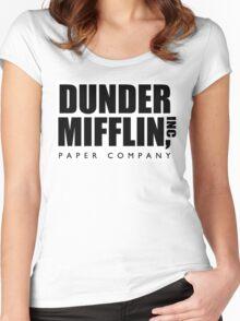 DUNDER MIFFLIN INC Women's Fitted Scoop T-Shirt