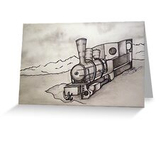 OLD TRAIN ENGINE Greeting Card