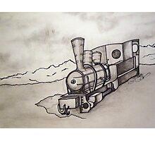 OLD TRAIN ENGINE Photographic Print