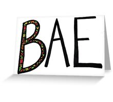 'BAE' Greeting Card