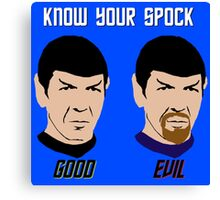 Know Your Spock Canvas Print