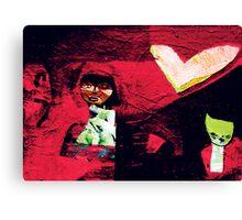 Textured Loveheart Canvas Print