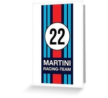 Not Martini F1 Motorsport Williams unofficial! Greeting Card