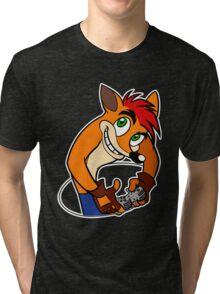 Retro Gamer Crash Bandicoot Tri-blend T-Shirt