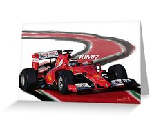 Ferrari SF15-T - Kimi7 Greeting Card