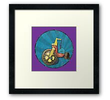 Big Wheel (purple) Framed Print