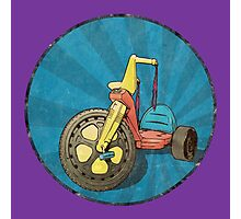 Big Wheel (purple) Photographic Print