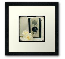 Floral Duaflex, vintage camera Framed Print