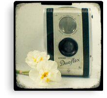 Floral Duaflex, vintage camera Canvas Print
