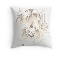 Clowns of a Different Nature Throw Pillow