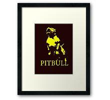 pitbull monster Framed Print