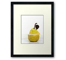 Sliced pear Framed Print