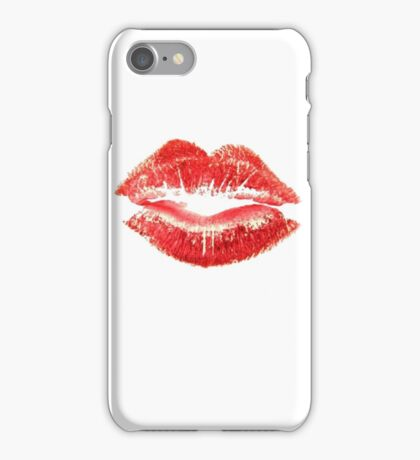 Beautiful Red Kiss Isolated iPhone Case/Skin