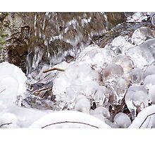 frozen bubbles Photographic Print