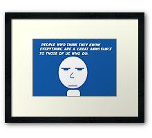Annoyance Framed Print