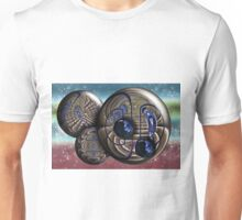 Gated Stair Case Orbs Unisex T-Shirt