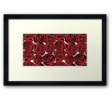 Pattern with red roses Framed Print