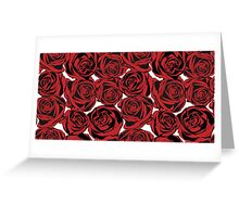Pattern with red roses Greeting Card