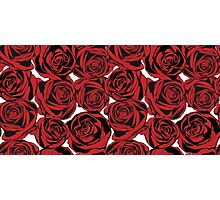 Pattern with red roses Photographic Print