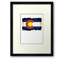 Colorado flag in Grunge Framed Print