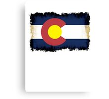 Colorado flag in Grunge Canvas Print