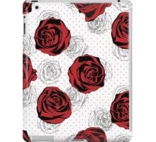 Floral Pattern. Rose Red Background iPad Case/Skin