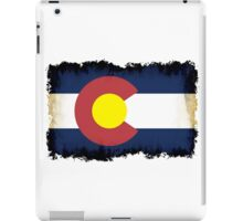 Colorado flag in Grunge iPad Case/Skin