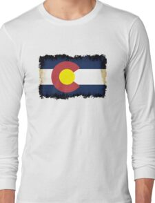 Colorado flag in Grunge Long Sleeve T-Shirt