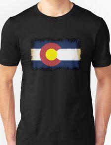 Colorado flag in Grunge Unisex T-Shirt