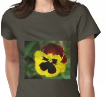 Little Treasure - Sunlit Amber and Gold Pansy Womens Fitted T-Shirt