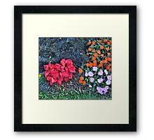 Reality Xmas Like Flowers Duvet Framed Print