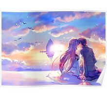Sword Art Online - Asuna and Kirito Lovers Poster