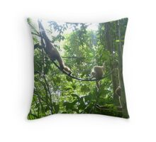Gibbons of Thailand Throw Pillow