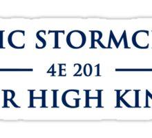 Skyrim - Ulfric Stormcloak for High King - Blue text Sticker