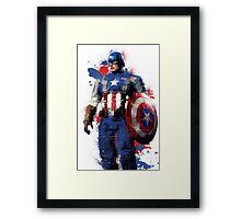 """""""Captain America"""" Splatter Art Framed Print"""