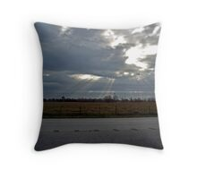 A storm on the horizion. Throw Pillow