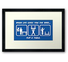 Flip a Table Framed Print