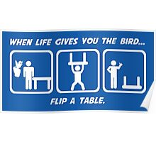 Flip a Table Poster