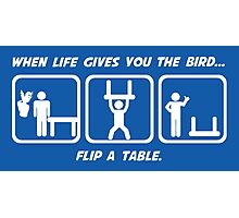 Flip a Table Photographic Print