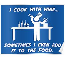 Cooking With Wine Poster