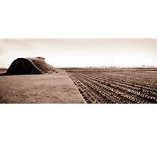 Wartime Airplane Hangar Photographic Print