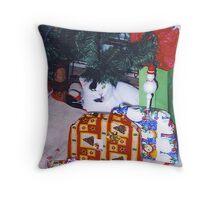 I got A Cat For Christmas Throw Pillow