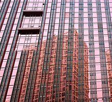 pink window reflection by dominiquelandau