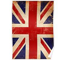 Britain Flag British Vintage Retro Poster