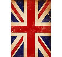Britain Flag British Vintage Retro Photographic Print