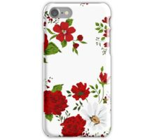 Red roses. Seamless floral background.  iPhone Case/Skin