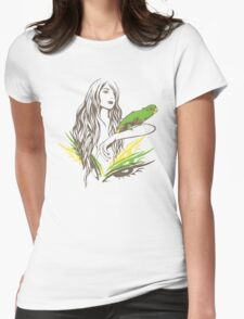 Parrot Girl - 1 Womens Fitted T-Shirt