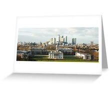 The Queen's House and Canary Wharf Greeting Card